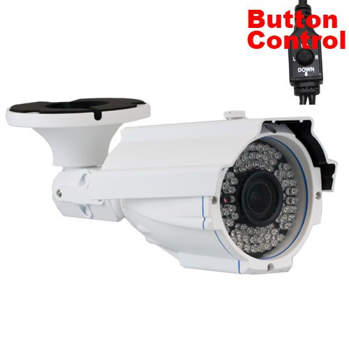 GW Security Inc GW56WD 700TVL 1/3-Inch SONY SUPER HAD CCD II Outdoor Security Camera with 2.8-12mm Manual Zoom Lens and 72 IR LEDs (White)