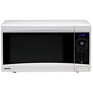 Sanyo EM-S5120W 1-1/5-Cubic-Foot Microwave Oven, White