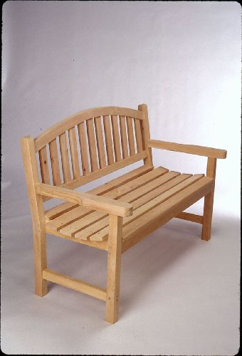 Cedar 4' Monet Bench Made in USA By Tidewater Workshop