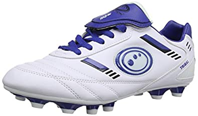 Optimum Mens Tribal Moulded Rugby Boots RBTMSWBS7 White/Blue 7 UK, 40 EU
