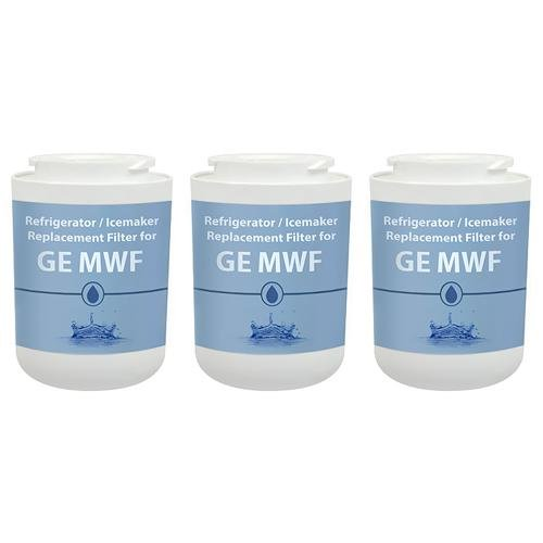 Replacement Water Filter Cartridge for GE MWF / GWF / MWFP / WSG-1 / WF287 (3 Pack) (Ge Refrigerator Gwf Water Filter compare prices)