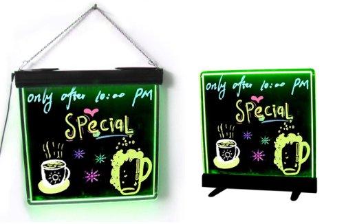 Led Illuminated Writing Board Led Signs Open Sign Led Light-Up Dry Erase Menu...