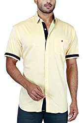 Botticelli Plain Shirts for men-Yellow
