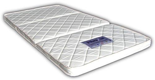 高反発 3つ折り パームマットレス シングル 厚さ6cm (腰痛・二段ベッドに最適)FibreLux純正品 天然ココナッツ100%【三つ折り/折りたたみ】