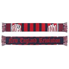 New England Revolution Adidas MLS Authentic Jacquard Team Scarf by adidas
