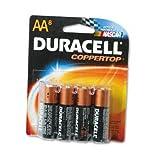 Duracell MN1500B8Z Coppertop Alkaline Batteries With Duralock Power Preserve Technology, Aa, 8/pack