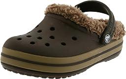 Crocs Crocband Mammoth Clog (Toddler/Little Kid),Espresso/Khaki,10-11 M US Toddler