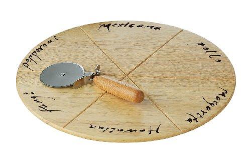 Premier-Housewares-Plato-redondo-para-pizzas-con-cortador-madera-de-caucho-2-x-32-x-32-cm
