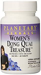 Planetary Herbals Women's Dong Quai Treasure Tablets, 60 Count