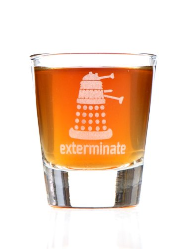 Exterminate! Dalek Dr. Who Inspired Shot Glass