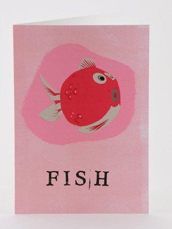 Petra Boase Paper Balloon Greeting Card - Fish front-41213