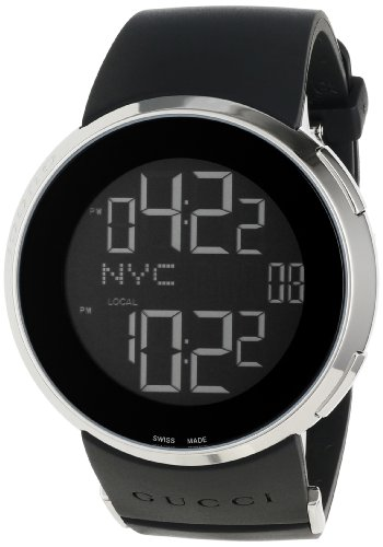 Gucci Men's YA114202 I-Gucci Digital Black Rubber Strap Watch