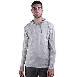 ARCTIC POLE Mens Lightweight Tri Blend Hoodie Tee Shirt NO Pockets XX Large, Heather Grey