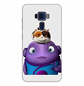 Happoz ASUS Zenfone 3 (ZE552KL) 5.5 inches Cases Back Cover Mobile Pouches Shell Hard Plastic Graphic Armour Premium Printed Designer Cartoon Girl 3D Funky Fancy Slim Graffiti Imported Cute Colurful Stylish Boys D071