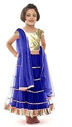 Awesome Fab Blue Colour Soft Net Semi-stitched Laced Lehenga Choli