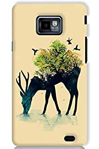 IndiaRangDe Hard Back Cover FOR Samsung Galaxy S2 II I9100