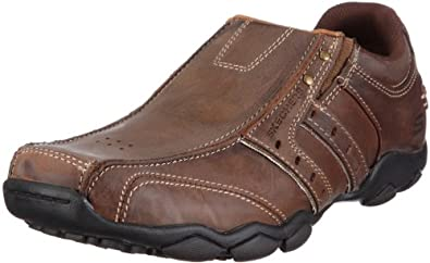 Skechers Men's Diameter Heisman Slip-on Brown(CDB/DarkBrown),39 EU, 5.5 UK