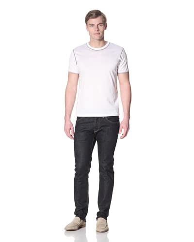 Calvin Klein Collection Men's Crew Neck T-Shirt  [White/Grey]