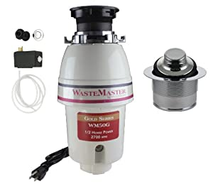 WasteMaster 1/2 HP Disposal with Chrome Air Switch/Flange Kit WM50G