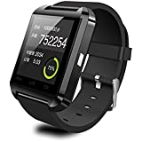 "U8 Wearable 1.45"" Touch Screen Smart Bluetooth Watch W/ Pedometer /Barometer /Altimeter /Stopwatch - Black"