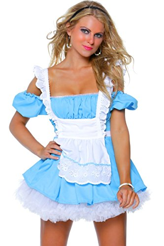 "3WISHES ""Fantasy Alice Costume"" Sexy Wonderland Halloween Costumes for Women"