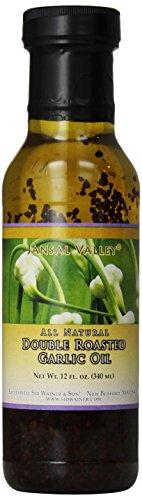 Jansal Valley Double Roasted Garlic Oil, 12 Ounce
