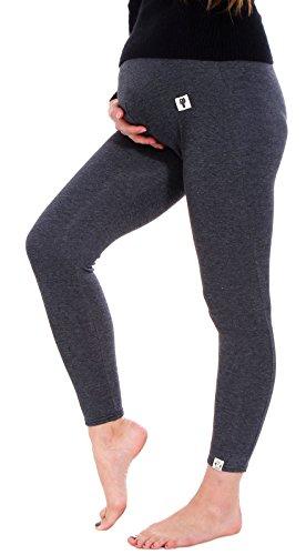 Ashopz Cotton Casual Womens Solid Maternity Leggings,Dark Grey, Dark Grey, One Size