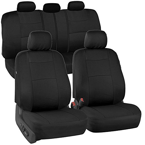 PolyCloth Black Car Seat Covers - EasyWrap Interior Protection for Auto (Mazda 3 Leather Seat Covers compare prices)