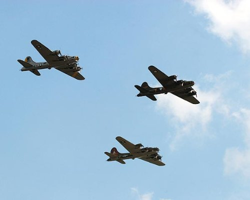 B-17 Flying Fortress WWII Bomber Trio 11x14 Silver Halide Photo Print