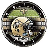 NFL New Orleans Saints Chrome Clock