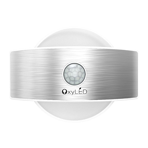 OxyLED T-03s Rechargeable Stick Anywhere Bright Motion Sensor LED Night Light LED, Wall Sconce Sense Light (Led Light With Sensor compare prices)