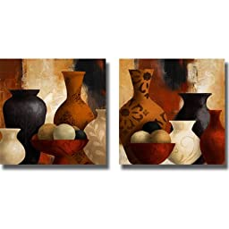 Spiced Vessels I & II by Lanie Loreth 2-pc Premium Stretched Canvas Set (Ready to Hang)