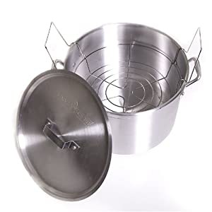 Camp Chef DPC7 All Purpose Aluminum 21-Quart Canning Pot with Rack by Camp Chef