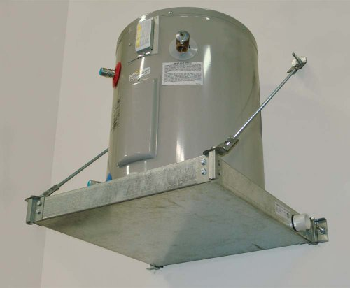 Holdrite QuickStand 40-SWHP-W Wall Mounted Suspended Water Heater Platform with Drain Pan and 1-Inch PVC Drain Fitting, 21-1/4-Inch by 21-1/4-Inch (Wall Mounted Water Heater compare prices)