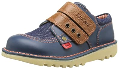 Kickers Boys Kick J Strap Shoes 112659 Dark Blue 5 UK Child, 22 EU