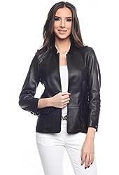 Tommy Hilfiger Women's Leather Jacket Fenton
