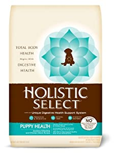 Holistic Select Natural Dry Dog Food, Puppy Anchovy and Sardine Meal Recipe, 15-Pound Bag