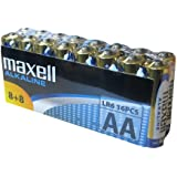 Maxell 141529 Pack de 16 Piles alcalines LR 06 1,5 V