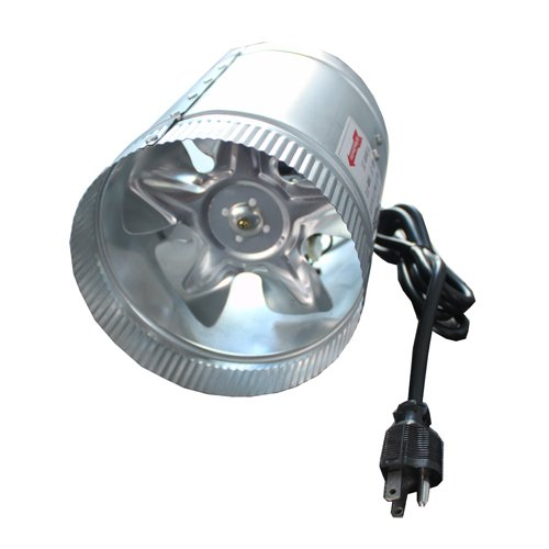 LED Wholesalers GYO2402 6-Inch 240 CFM Air Duct Inline Hydroponic Booster Fan