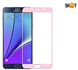 Skoot Full Screen Protector tempered glass for Samsung Galaxy Note 5 - Pink