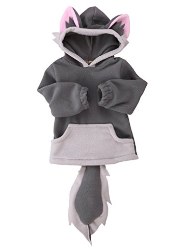 Baby Kids Boys Girls Cute Fox Hooded Cape Cloak Hoodie Coat Outwear (2-3 years, grey)