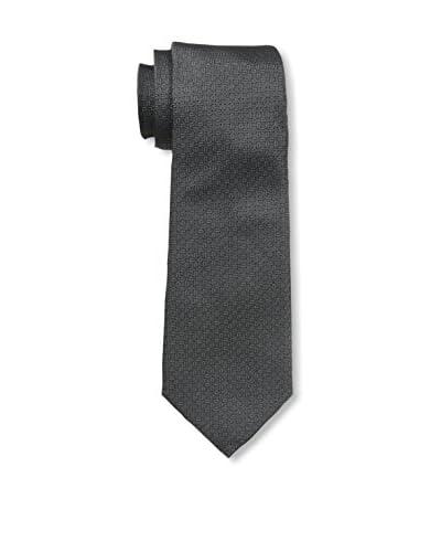 Valentino Men's Solid Woven Tie, Anthracite