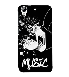 99Sublimation Music Player Sa re Ga Ma 3D Hard Polycarbonate Back Case Cover for HTC Desire 728