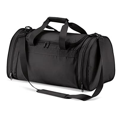 Black sports bag, gym bag, sports holdall weekend bag