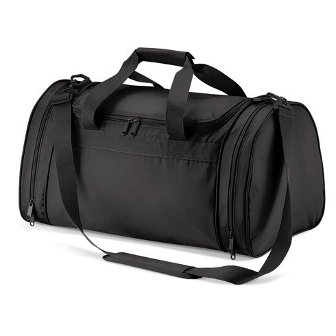 Black sports bag, gym bag, sports holdall weekend bag