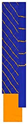 Natural handloom Women's Georgette Unstitched Dress Material (Blue and Yellow)