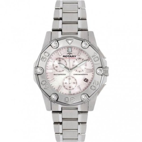 Rotary ALB00033/C/07 Ladies Chronograph Stainless Steel Bracelet Watch