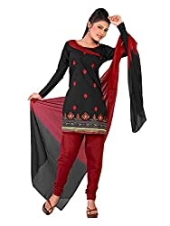 Urban Vastra Black Embroidery Dress Material ( 19003A )