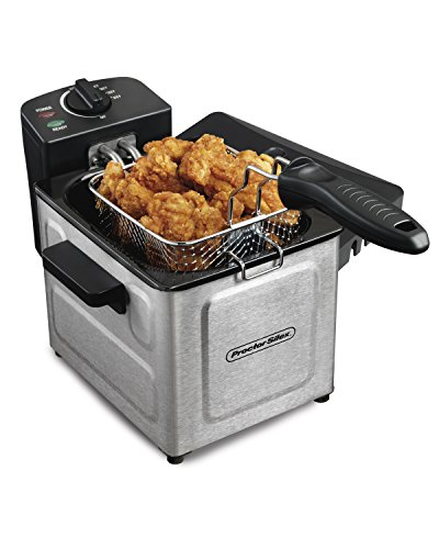 Proctor Silex Professional-Style Electric Deep Fryer, Stainless Steel (35041) (Deep Fat Turkey Fryer compare prices)