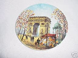 L \'Arc De Triomphe by Louis Dali Collector Plate